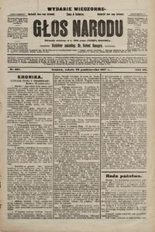 Głos Narodu : dziennik polityczny, założony w r. 1893 przez Józefa Rogosza (wydanie wieczorne). 1907, nr487