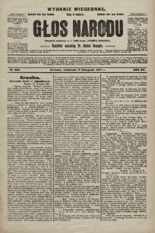 Głos Narodu : dziennik polityczny, założony w r. 1893 przez Józefa Rogosza (wydanie wieczorne). 1907, nr523