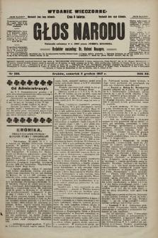 Głos Narodu : dziennik polityczny, założony w r. 1893 przez Józefa Rogosza (wydanie wieczorne). 1907, nr553