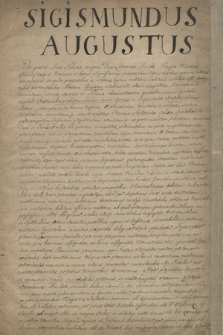 Statuty (3) dla szpitali i konwentów św. Ducha w Krakowie, Sandomierzu i Kaliszu zatwierdzone przez króla Zygmunta Augusta w Lublinie w 1569 r.