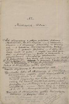 Autografy Adama Mickiewicza z lat 1828–1855