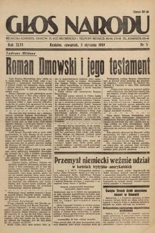 Głos Narodu. 1939, nr5