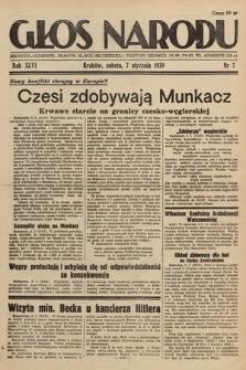 Głos Narodu. 1939, nr7