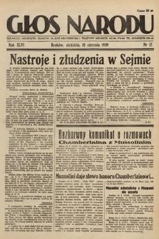 Głos Narodu. 1939, nr15