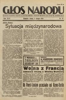 Głos Narodu. 1939, nr39