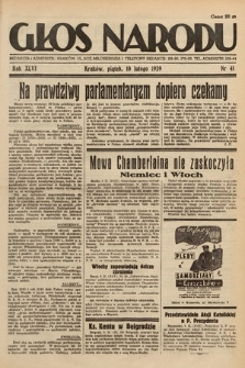 Głos Narodu. 1939, nr41