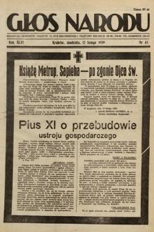 Głos Narodu. 1939, nr43