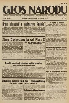 Głos Narodu. 1939, nr44