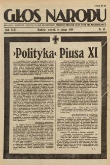 Głos Narodu. 1939, nr45