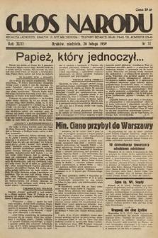 Głos Narodu. 1939, nr57