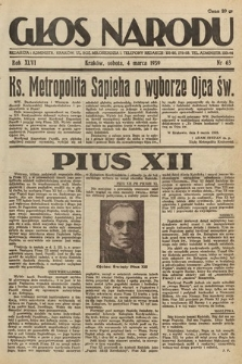 Głos Narodu. 1939, nr63