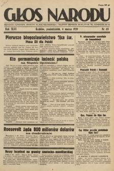 Głos Narodu. 1939, nr65