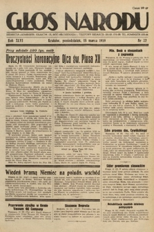 Głos Narodu. 1939, nr72
