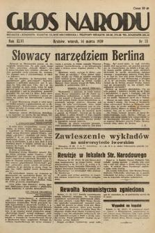 Głos Narodu. 1939, nr73