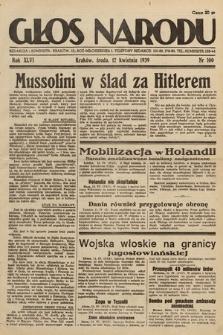 Głos Narodu. 1939, nr100