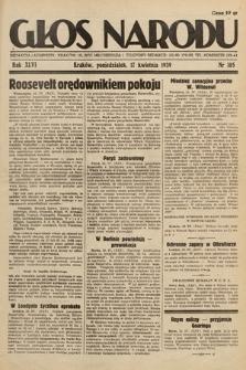 Głos Narodu. 1939, nr105
