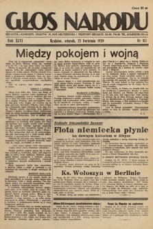 Głos Narodu. 1939, nr113