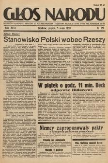 Głos Narodu. 1939, nr123