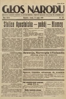 Głos Narodu. 1939, nr135
