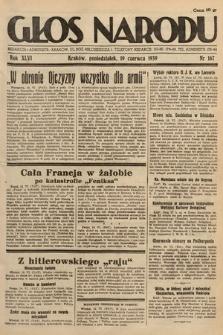 Głos Narodu. 1939, nr167