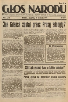 Głos Narodu. 1939, nr170