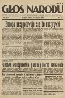 Głos Narodu. 1939, nr221