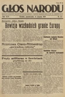 Głos Narodu. 1939, nr223