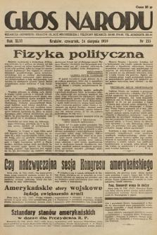 Głos Narodu. 1939, nr233