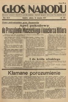 Głos Narodu. 1939, nr235