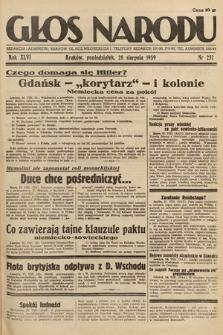 Głos Narodu. 1939, nr237