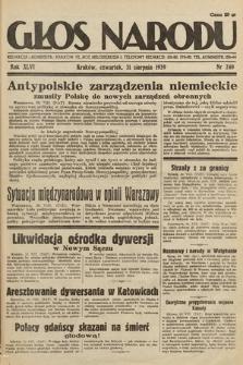 Głos Narodu. 1939, nr240