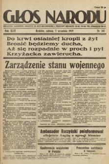 Głos Narodu. 1939, nr242