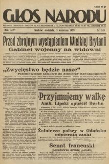 Głos Narodu. 1939, nr243