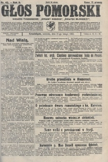 Głos Pomorski. 1926, nr42
