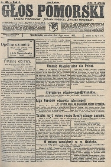 Głos Pomorski. 1926, nr51