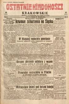 Ostatnie Wiadomości Krakowskie : gazeta codzienna dla wszystkich. 1932, nr24
