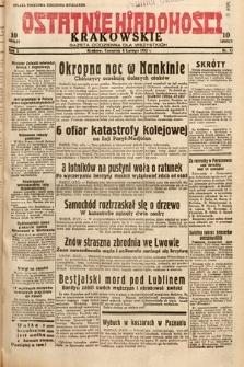 Ostatnie Wiadomości Krakowskie : gazeta codzienna dla wszystkich. 1932, nr35