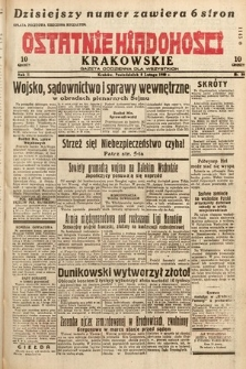 Ostatnie Wiadomości Krakowskie : gazeta codzienna dla wszystkich. 1932, nr39