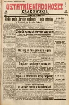 Ostatnie Wiadomości Krakowskie : gazeta codzienna dla wszystkich. 1932, nr43