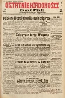 Ostatnie Wiadomości Krakowskie : gazeta codzienna dla wszystkich. 1932, nr44