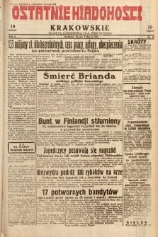 Ostatnie Wiadomości Krakowskie : gazeta codzienna dla wszystkich. 1932, nr69