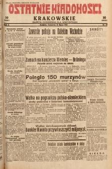 Ostatnie Wiadomości Krakowskie : gazeta codzienna dla wszystkich. 1932, nr89