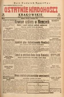 Ostatnie Wiadomości Krakowskie : gazeta codzienna dla wszystkich. 1932, nr101
