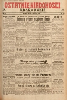 Ostatnie Wiadomości Krakowskie : gazeta codzienna dla wszystkich. 1932, nr102