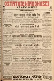Ostatnie Wiadomości Krakowskie : gazeta codzienna dla wszystkich. 1932, nr106