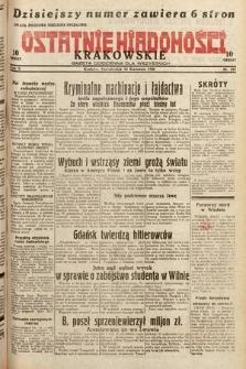 Ostatnie Wiadomości Krakowskie : gazeta codzienna dla wszystkich. 1932, nr107