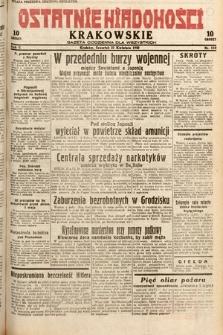 Ostatnie Wiadomości Krakowskie : gazeta codzienna dla wszystkich. 1932, nr110