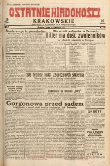 Ostatnie Wiadomości Krakowskie : gazeta codzienna dla wszystkich. 1932, nr116