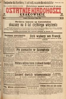 Ostatnie Wiadomości Krakowskie : gazeta codzienna dla wszystkich. 1932, nr121
