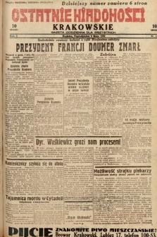 Ostatnie Wiadomości Krakowskie : gazeta codzienna dla wszystkich. 1932, nr128